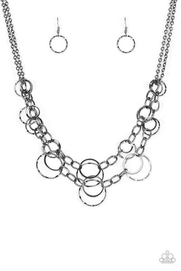 Urban Center Gunmetal Black EXCLUSIVE Paparazzi Party Pack Necklace