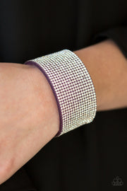 Paparazzi Roll With The Punches Purple Bracelet - Glitzygals5dollarbling Paparazzi Boutique