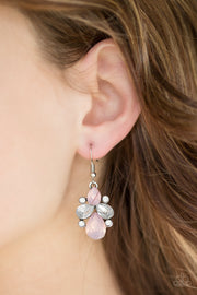 Wonderland Waltz Pink Earrings - Glitzygals5dollarbling Paparazzi Boutique