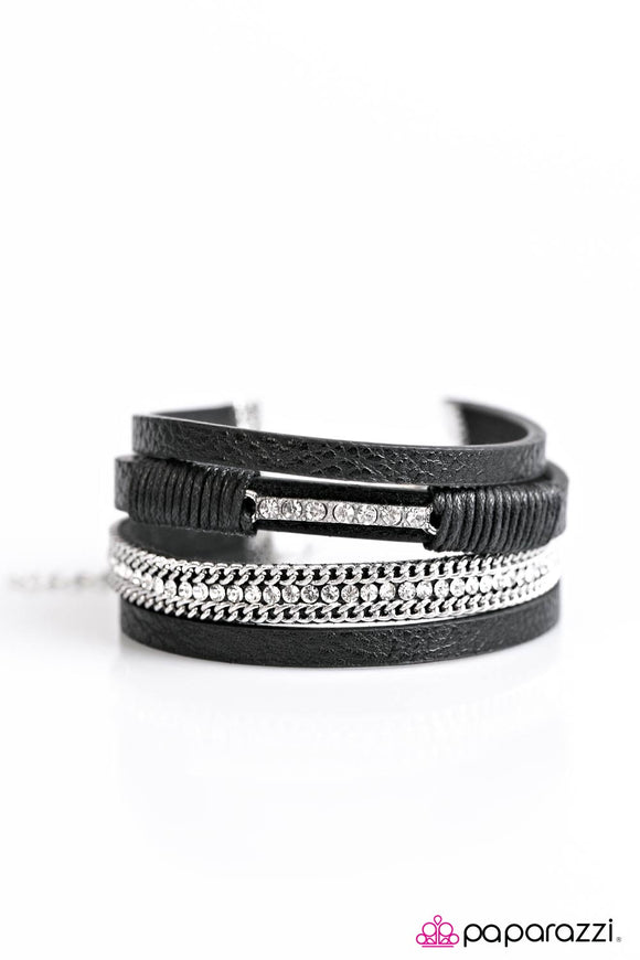 Paparazzi Rise To The Challenge Black Bracelet