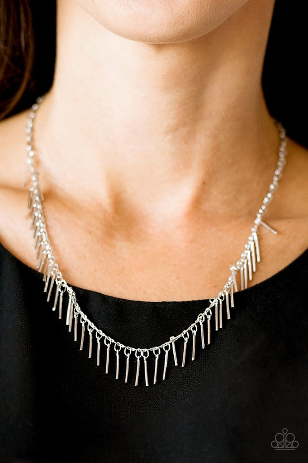 Paparazzi She's a Beast Silver Necklace - Glitzygals5dollarbling Paparazzi Boutique