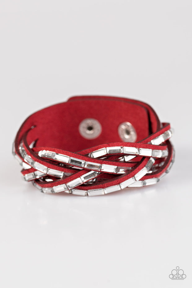 Paparazzi Rock Legend Red Urban Bracelet - Glitzygals5dollarbling Paparazzi Boutique
