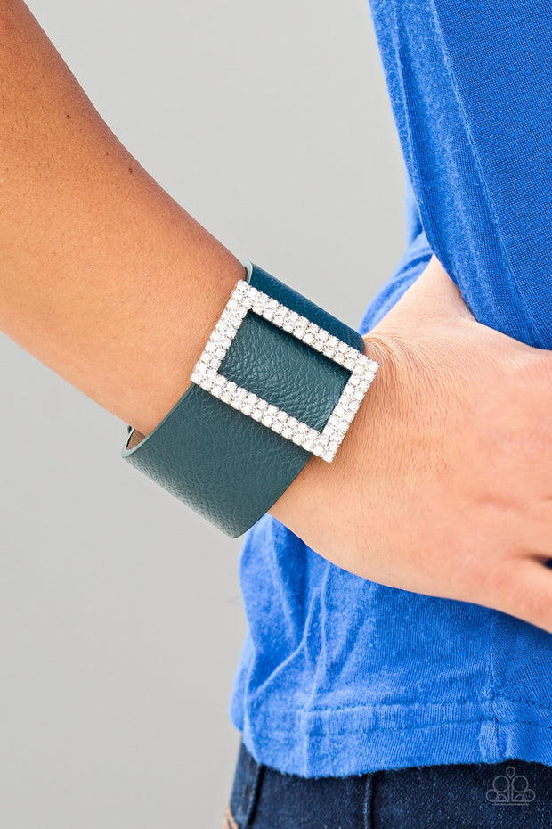 Paparazzi STUNNING For You Blue Teal Urban Bracelet - Glitzygals5dollarbling Paparazzi Boutique