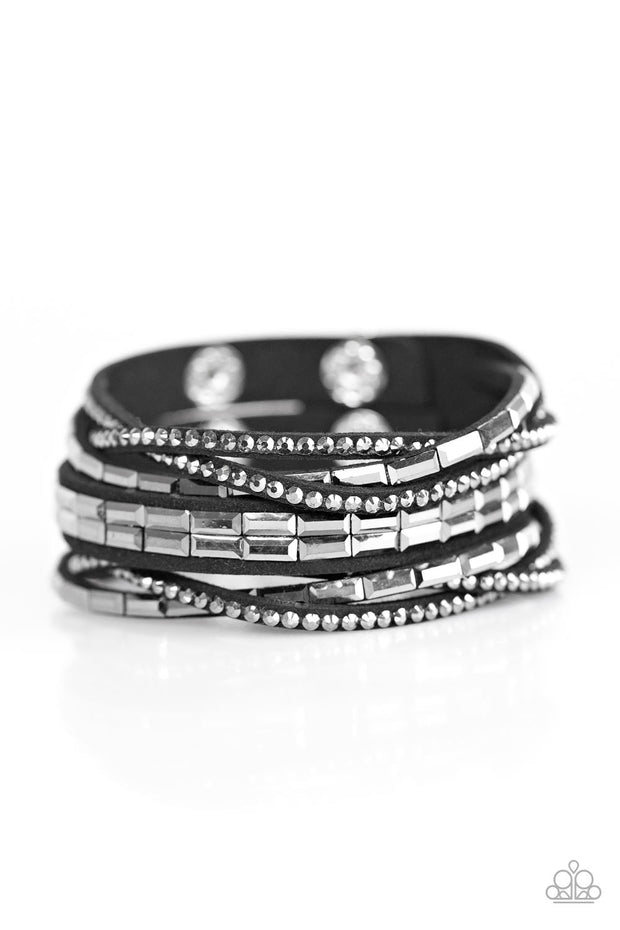 Paparazzi Grand Slam Shimmer Black Bracelet - Glitzygals5dollarbling Paparazzi Boutique
