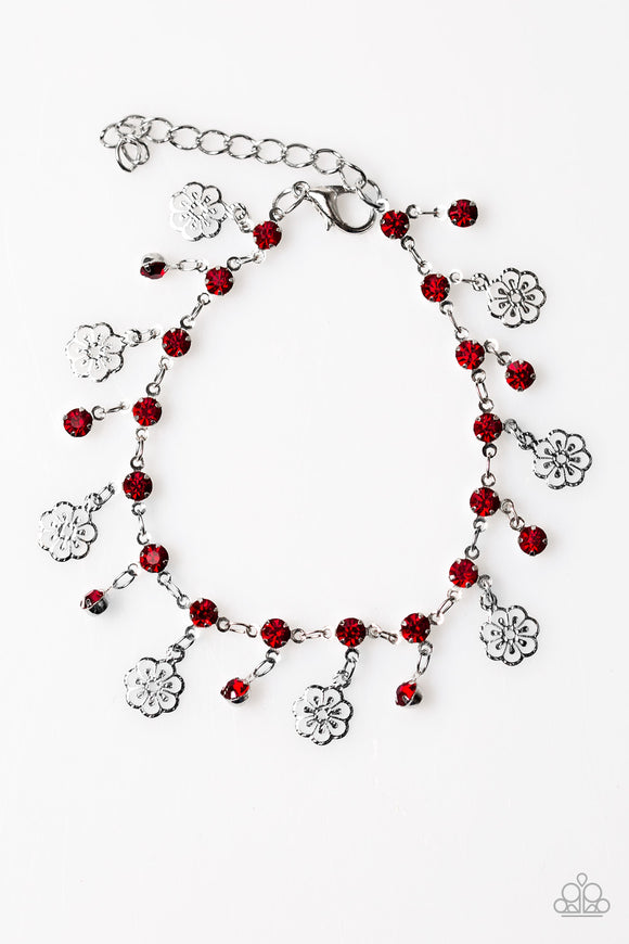 Paparazzi Hibiscus Breeze Red Bracelet