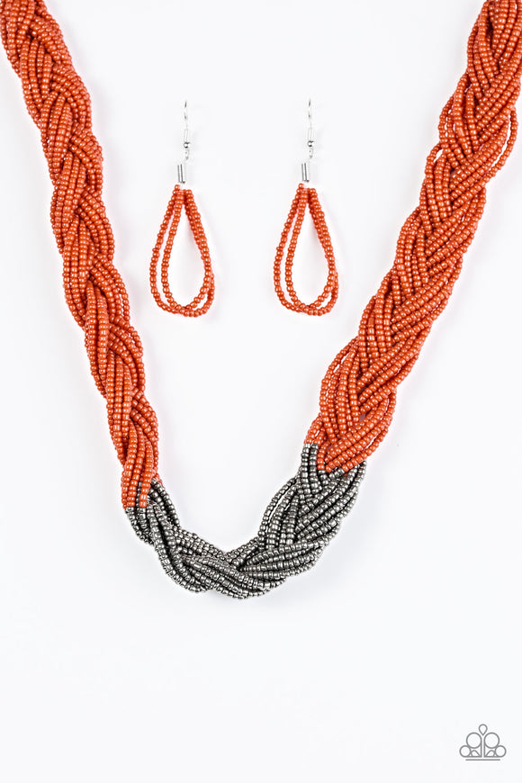 Brazilian Brilliance Orange Necklace