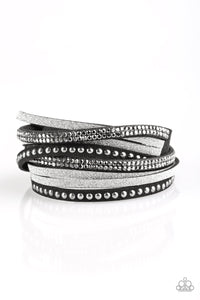 Once Upon a SHOWTIME Black Urban Double Wrap Bracelet Paparazzi
