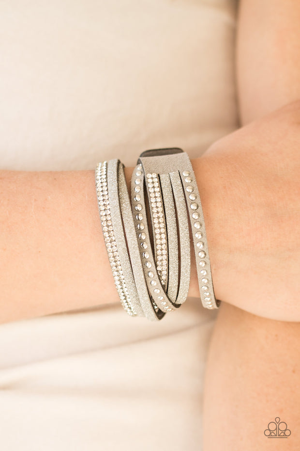 Paparazzi Once Upon A SHOWTIME Silver Urban Bracelet - Glitzygals5dollarbling Paparazzi Boutique