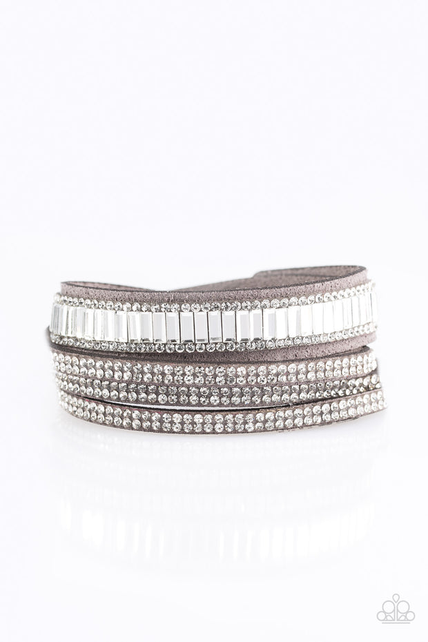 Just in SHOWTIME Silver Urban Bracelet - Glitzygals5dollarbling Paparazzi Boutique