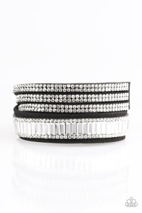 Just in SHOWTIME Black White Urban Double Wrap Bracelet