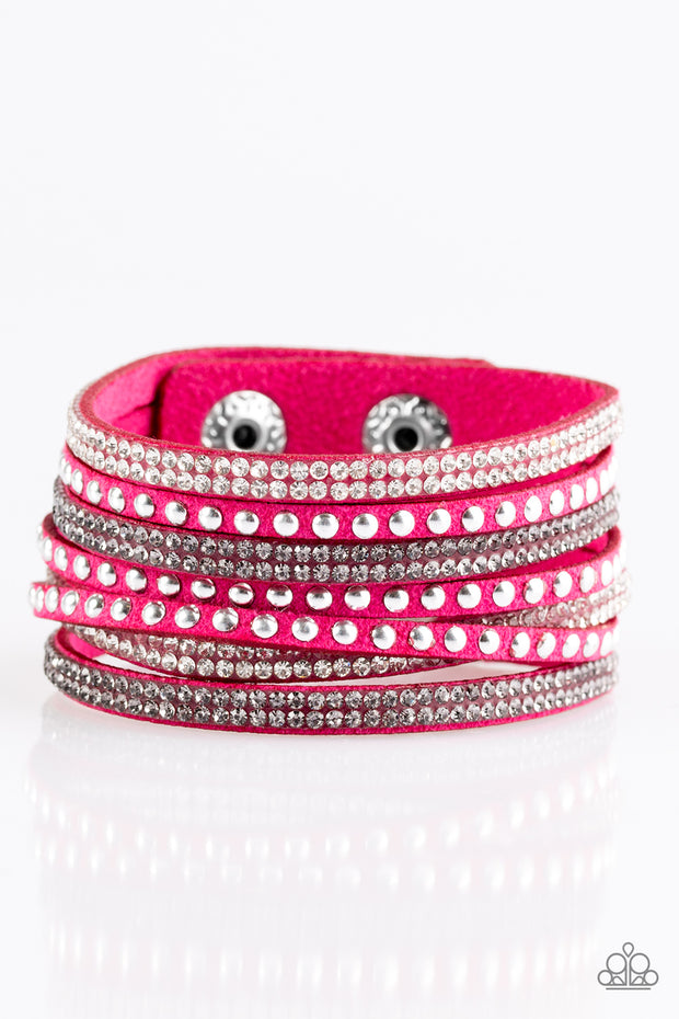 Paparazzi Victory Shine Pink Urban Bracelet - Glitzygals5dollarbling Paparazzi Boutique