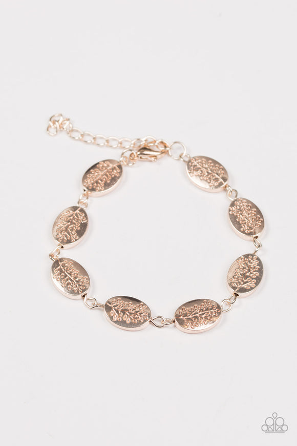Good Things Come In TREES Rose Gold Paparazzi Bracelet
