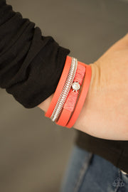 Paparazzi Catwalk Craze Orange Urban Bracelet - Glitzygals5dollarbling Paparazzi Boutique