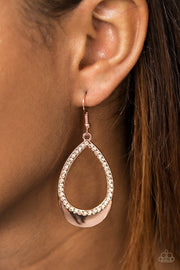 Make It REIGN Copper Earring - Glitzygals5dollarbling Paparazzi Boutique