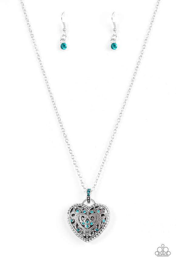 Charmingly Casanova Blue Necklace
