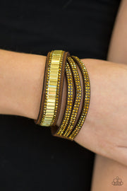 Just in SHOWTIME Brass Urban Double Wrap Bracelet Paparazzi - Glitzygals5dollarbling Paparazzi Boutique