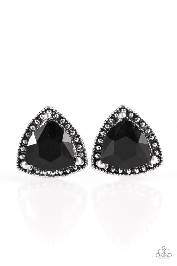 Paparazzi Daringly Duchess Black Post Earrings - Glitzygals5dollarbling Paparazzi Boutique