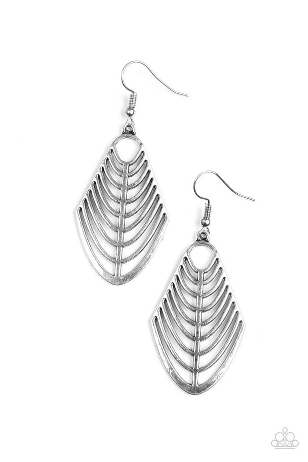 Paparazzi Right On Tracker Silver Earrings - Glitzygals5dollarbling Paparazzi Boutique