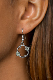 Paparazzi Double The Bubble Silver Earrings