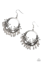 Paparazzi Musical Mantras White Earrings - Glitzygals5dollarbling Paparazzi Boutique