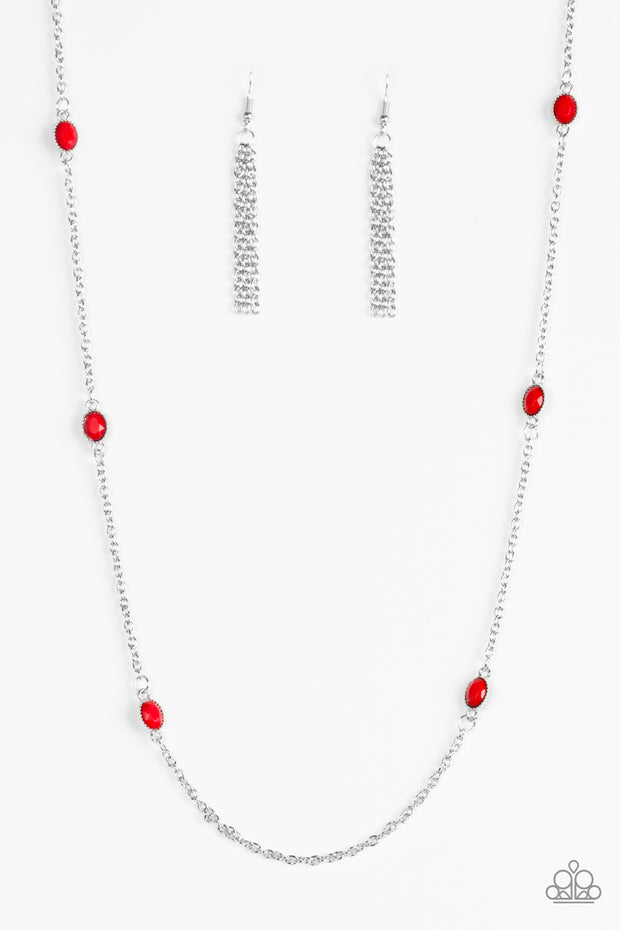 Paparazzi In Season Red Necklace - Glitzygals5dollarbling Paparazzi Boutique
