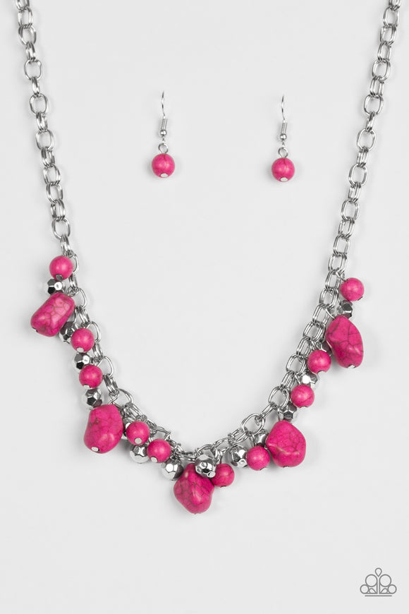 Paleo Princess Pink Necklace
