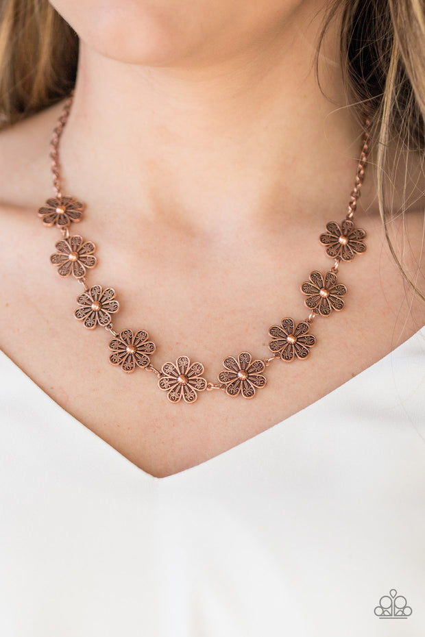 Paparazzi Spring Beauty Copper Necklace - Glitzygals5dollarbling Paparazzi Boutique