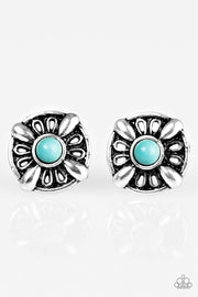 West Kept Secret Blue Post Earrings - Glitzygals5dollarbling Paparazzi Boutique