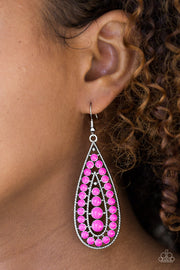 Paparazzi Rio Rumba Pink Earrings - Glitzygals5dollarbling Paparazzi Boutique