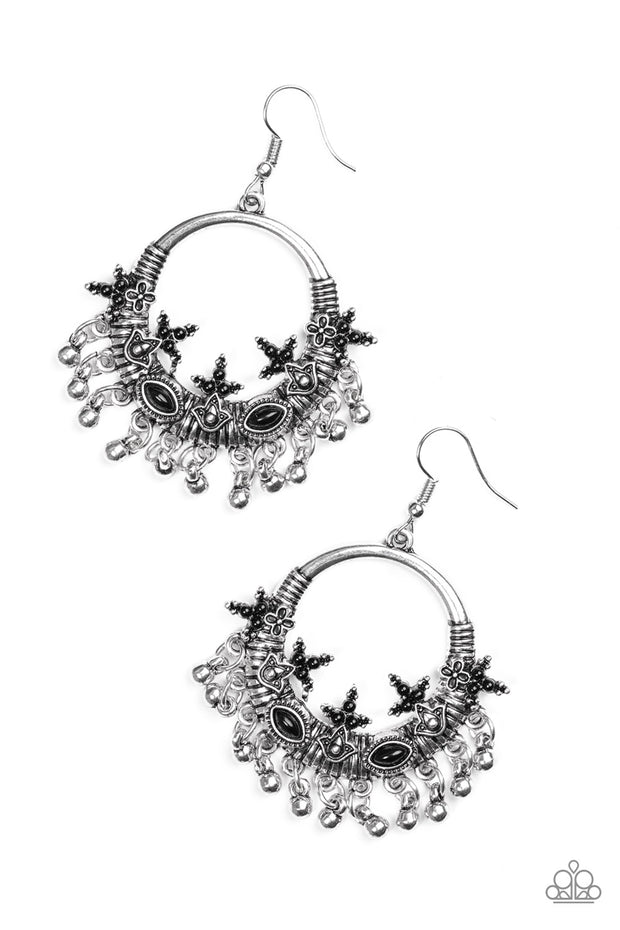 Paparazzi Musical Mantra Black Earring - Glitzygals5dollarbling Paparazzi Boutique