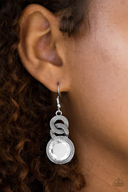 Paparazzi Be GLAM Enough! White Earrings - Glitzygals5dollarbling Paparazzi Boutique