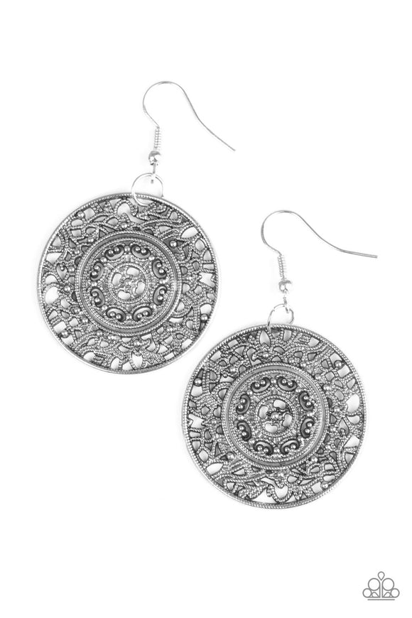 Paparazzi Say You WHEEL Silver Earring