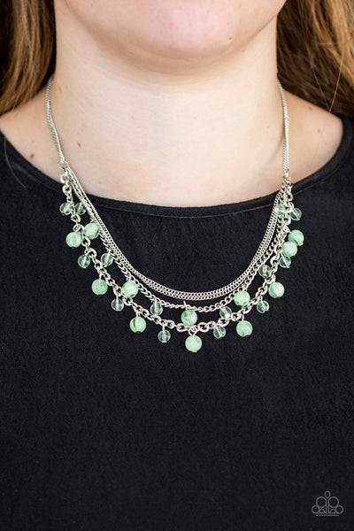 Ocean Odyssey Green Necklace - Glitzygals5dollarbling Paparazzi Boutique
