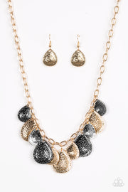 Paparazzi Storm Goddess Gold Multi Necklace - Glitzygals5dollarbling Paparazzi Boutique