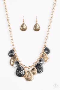 Paparazzi Storm Goddess Gold Multi Necklace