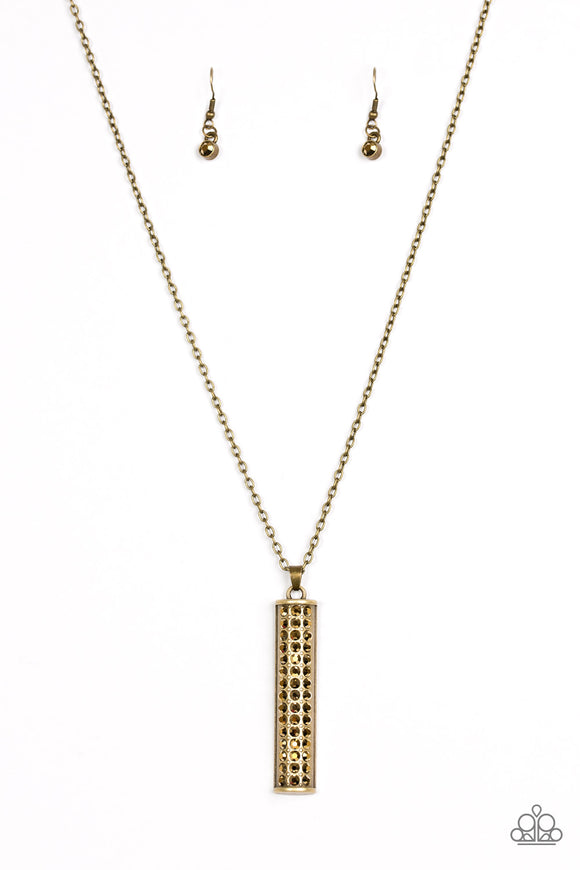 Paparazzi Big Shot Shimmer Brass Necklace