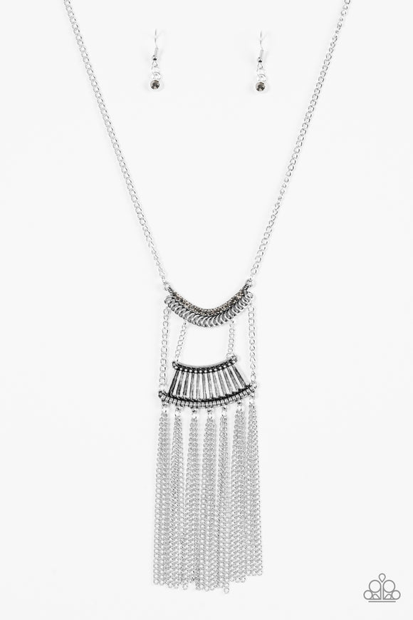 Paparazzi Glam Goddess Silver Necklace