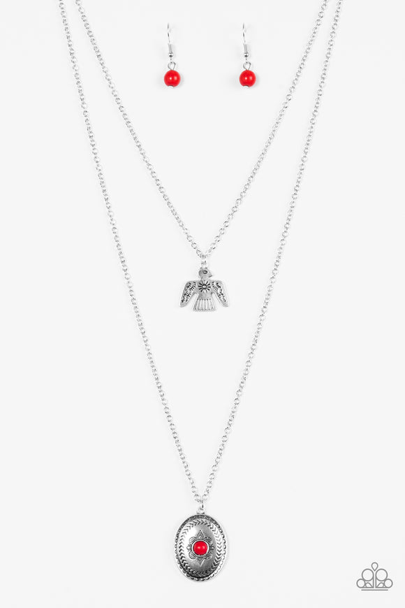 Paparazzi Desert Eagle Red Necklace