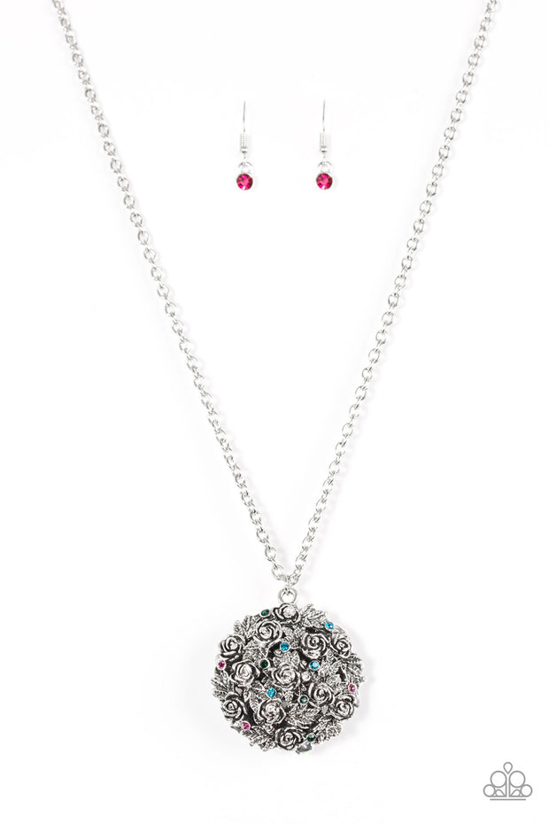 Paparazzi Royal In Roses Multi Necklace - Glitzygals5dollarbling Paparazzi Boutique