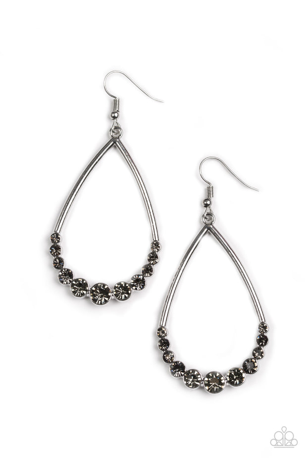 Paparazzi Dipped in Diamonds Silver Earrings - Glitzygals5dollarbling Paparazzi Boutique