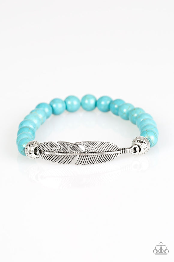 Take Wing Blue Bracelet by Paparazzi