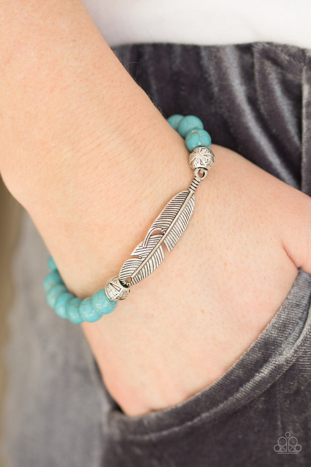 Take Wing Blue Bracelet by Paparazzi - Glitzygals5dollarbling Paparazzi Boutique