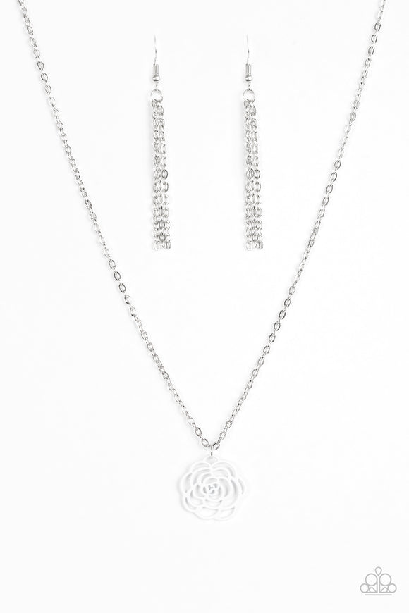 Paparazzi Blossom Bliss White Necklace