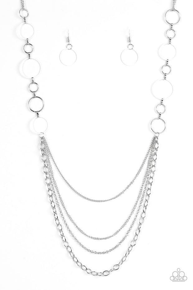 Paparazzi Industrial Circus White Necklace - Glitzygals5dollarbling Paparazzi Boutique