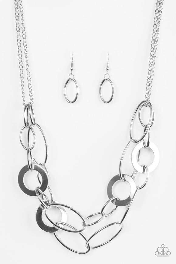 Paparazzi Metallic Maverick Silver Necklace