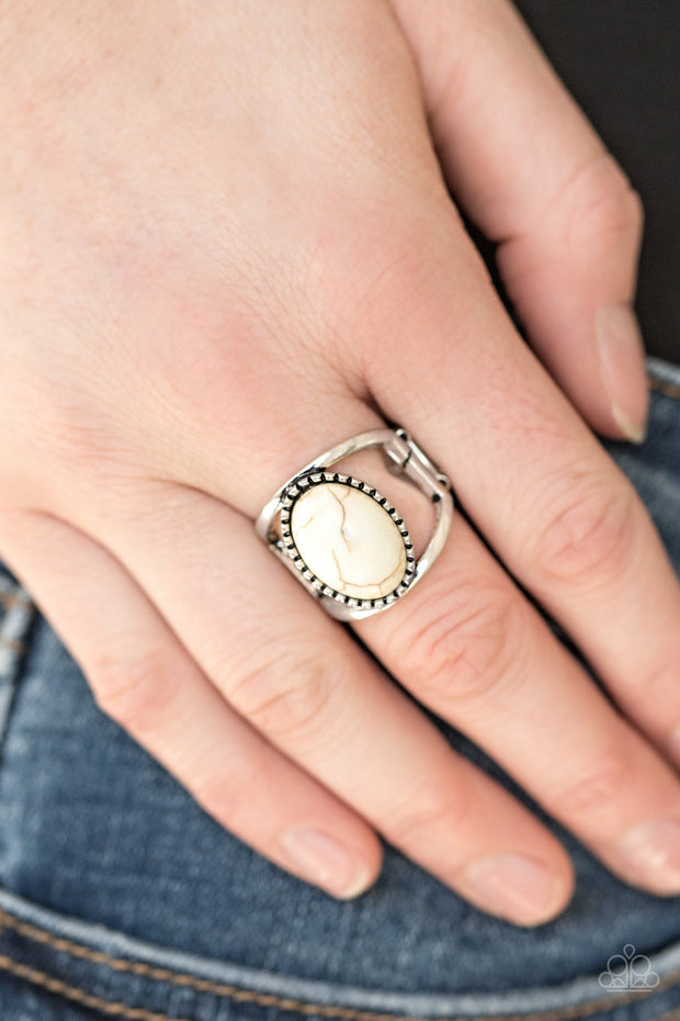 Paparazzi Canyon Cache White Ring - Glitzygals5dollarbling Paparazzi Boutique