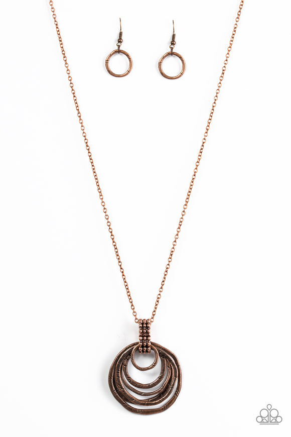 Paparazzi Rippling Relic Copper Necklace