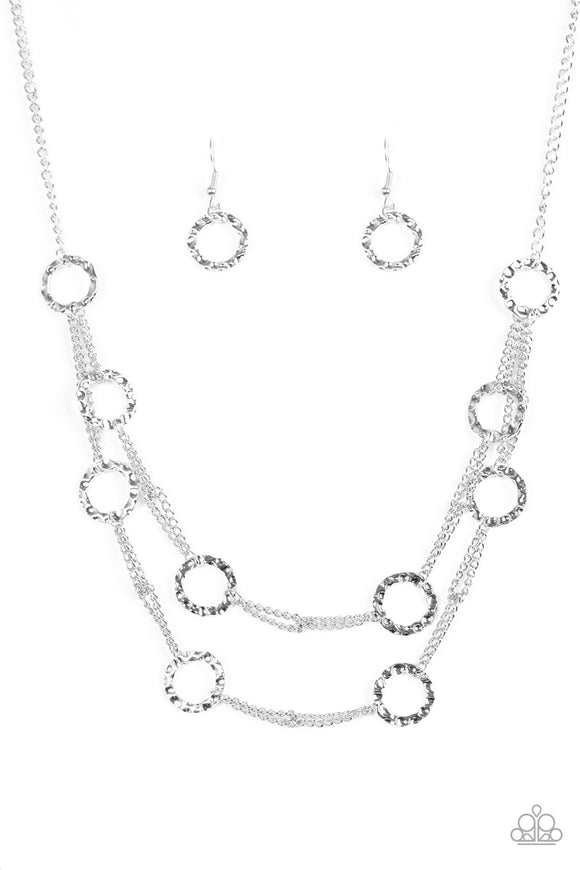 Paparazzi Circus Couture Silver Necklace