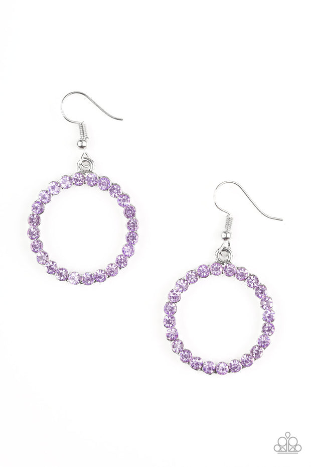 Paparazzi Bubblicious Purple Earrings - Glitzygals5dollarbling Paparazzi Boutique
