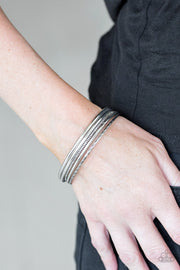 Mesa Mix Silver Bangle Bracelets - Glitzygals5dollarbling Paparazzi Boutique